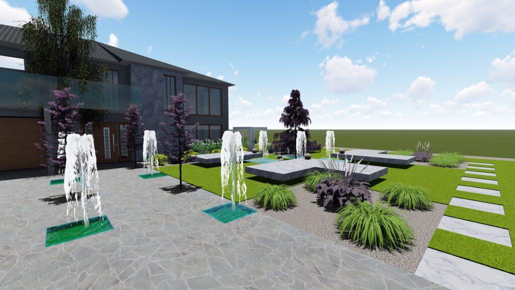 Projekt ogrodu nowoczesnego Warszawa