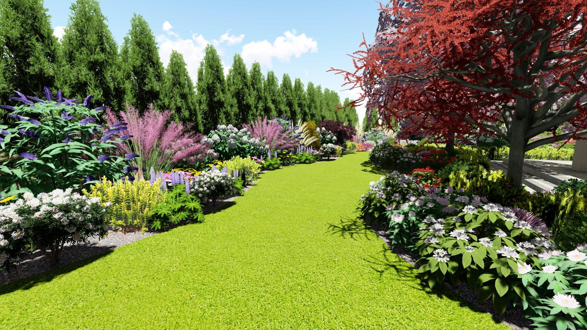 Projekty ogrodów Łochowo