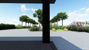 Projekt ogrodu w Parczewie